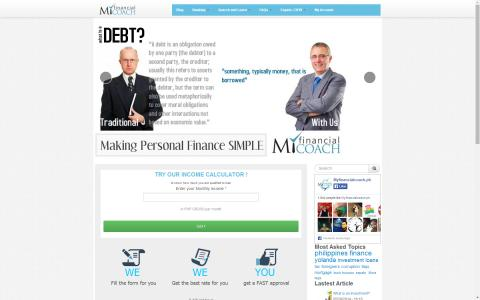 my financial coach.ph frontpage